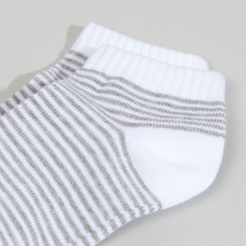 Juniors Striped Trainer Liner Socks - Set of 3