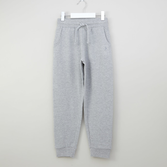 Juniors Basic Cotton Joggers with Drawstring Closure