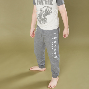 Black Panther Printed T-Shirt with Jog Pants