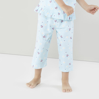 Juniors Printed Top with Capris - Set of 2