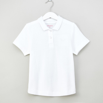 Juniors Polo Neck T-shirt with Short Sleeves - Set of 2