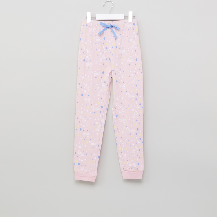 Barbie Printed T-Shirt with Jog Pants