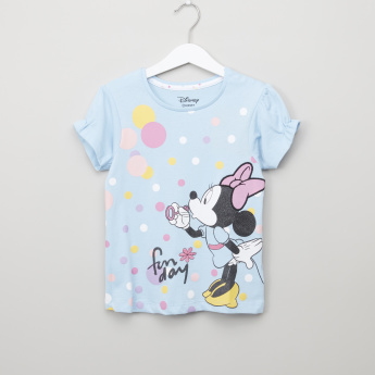 Minnie Mouse Printed Top and Pyjama Set