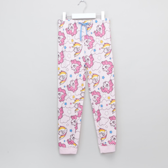 My Little Pony Printed T-Shirt with Jog Pants - Set of 2