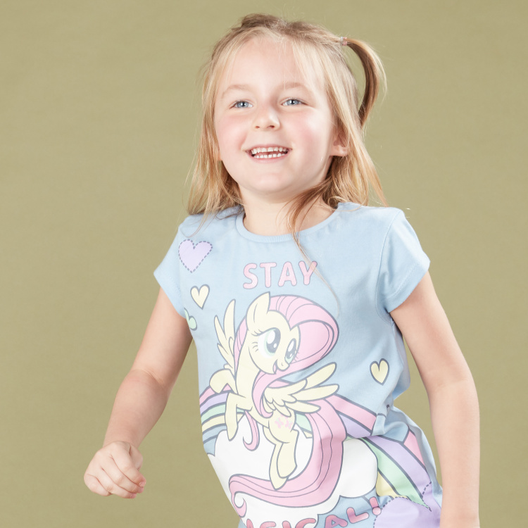 My Little Pony Printed Short Sleeves T-Shirt with 3/4 Pants