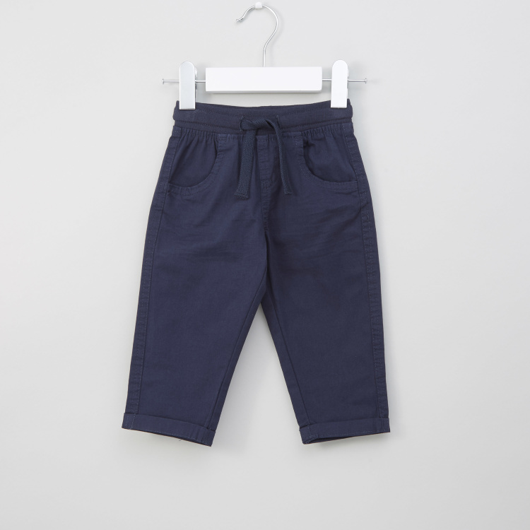 Juniors Solid Pants with Drawstring Closure