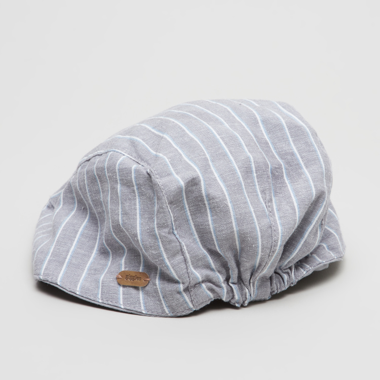 Giggles Striped Flat Cap with Elasticised Hem