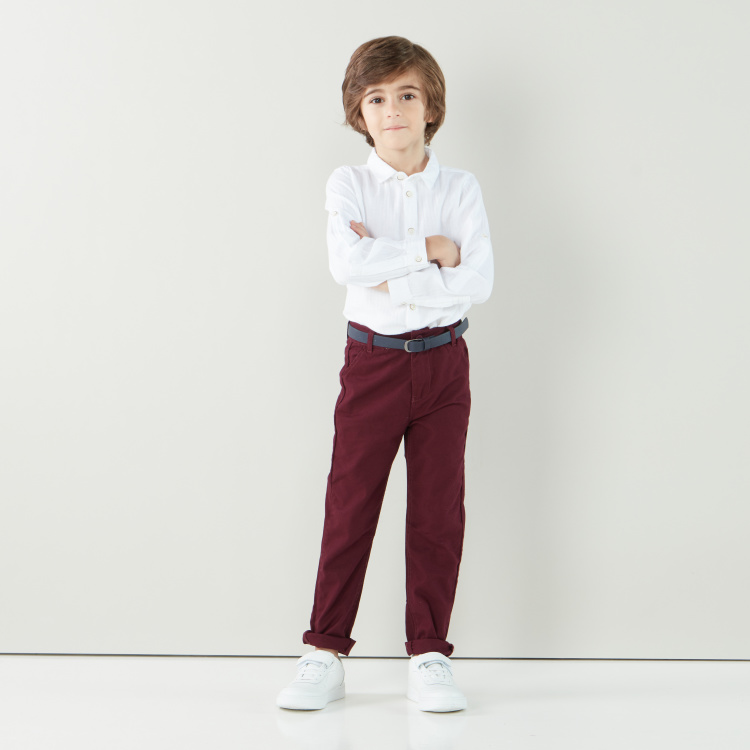 Eligo Solid Shirt with Long Sleeves