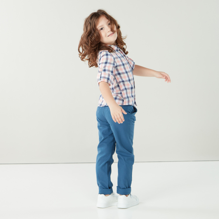 Eligo Rustic Holiday Pants with Pocket Detail and Belt Loops