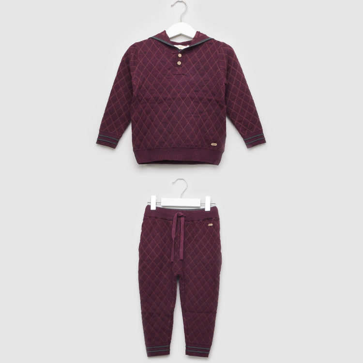 Eligo Quilted Long Sleeves T-shirt with Full Length Jog Pants