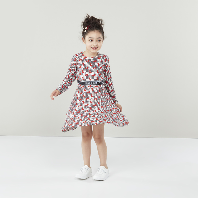Sanrio Hello Kitty Printed Dress with Asymmetric Hem