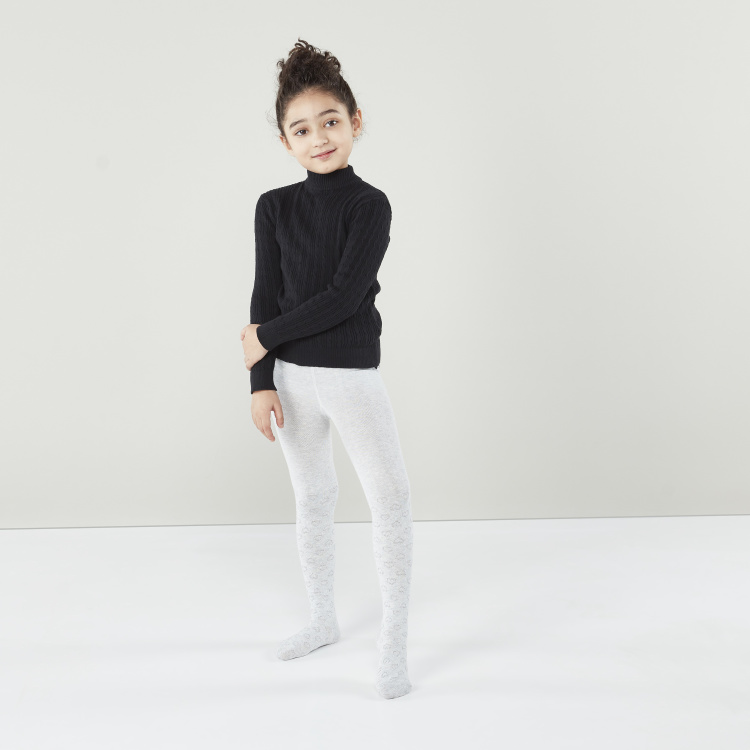 Juniors Solid Tights - Set of 2