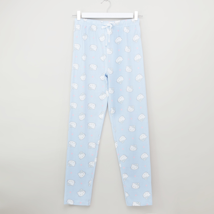 Sanrio Hello Kitty Printed T-shirt and Pyjama Set