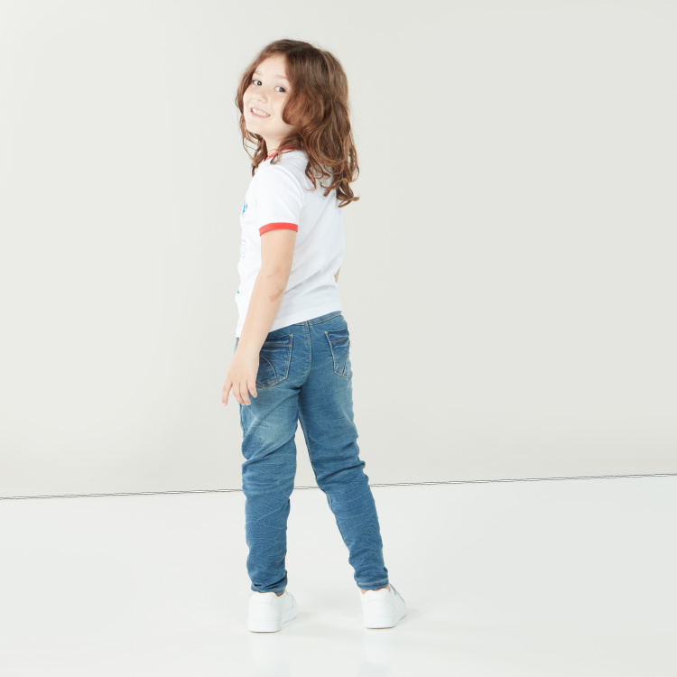 Juniors Full Length Jeans with Pocket Detail