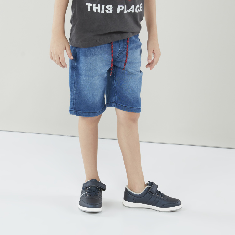 Lee Cooper Textured Shorts with Tie-Up Closure
