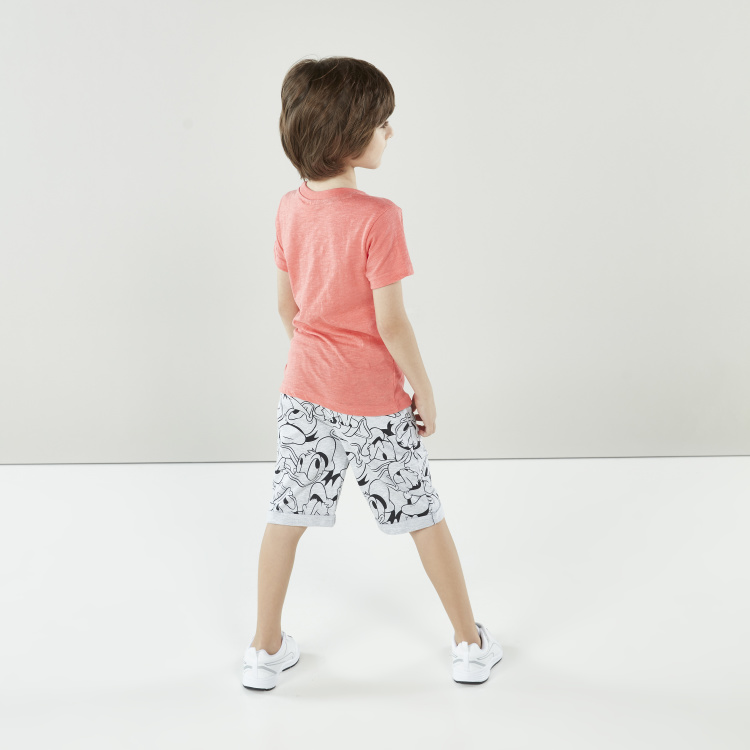 Disney Donald Duck Printed Shorts with Pocket Detail