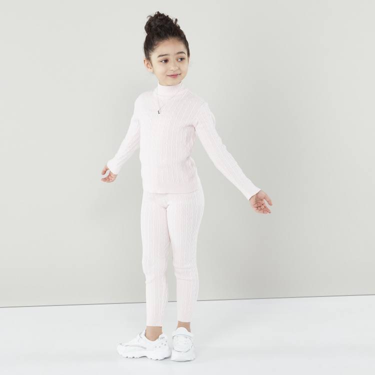 Juniors Solid Leggings with Elasticated Waistband