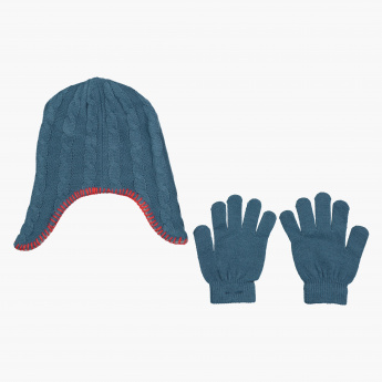 Juniors Spider-Man Embroidered Cap and Gloves Set
