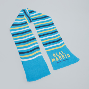Real Madrid Printed Scarf with Embroidered Cap