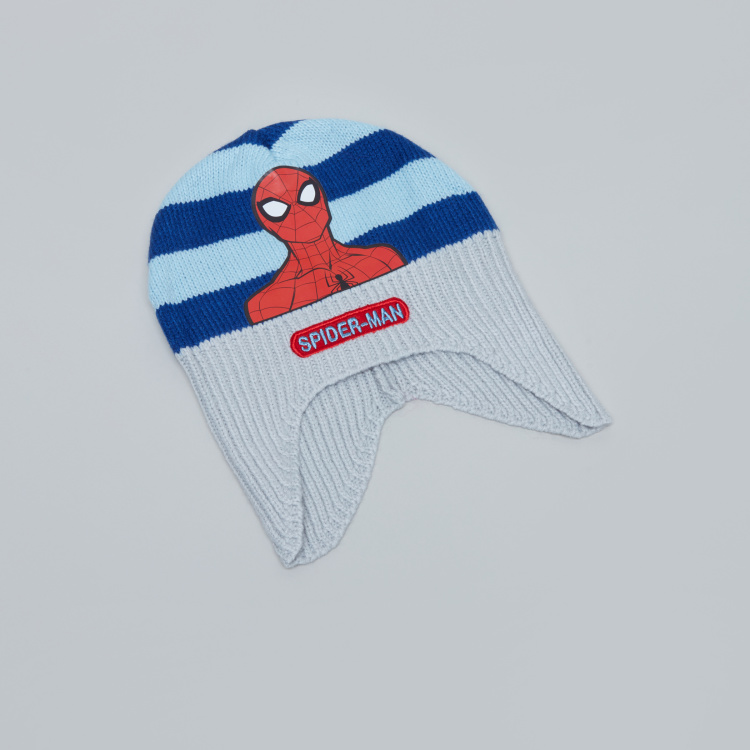 Spider-Man Printed Cap with Scarf
