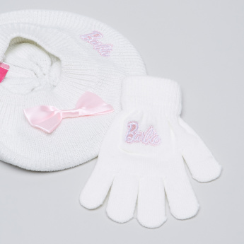 Barbie Embroidered Cap with Gloves