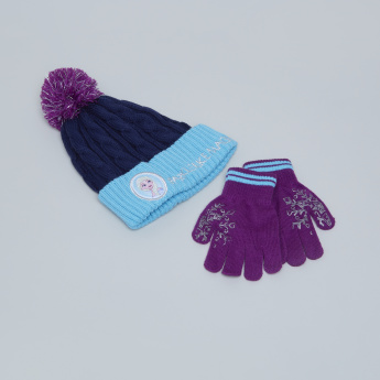 Princess Textured Winter Cap with Gloves