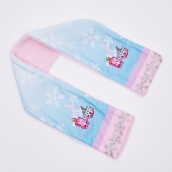 Shopkins Printed Scarf with Beanie Cap