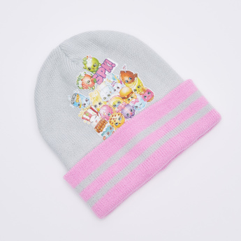 Shopkins Printed Beanie Cap with Gloves