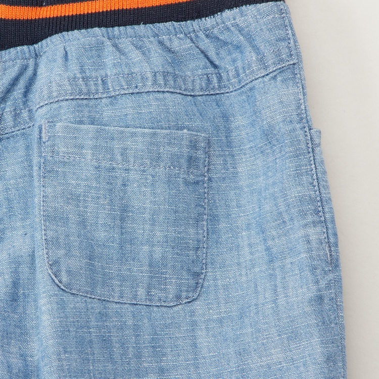 Juniors Embroidered Denim Shorts with Pockets