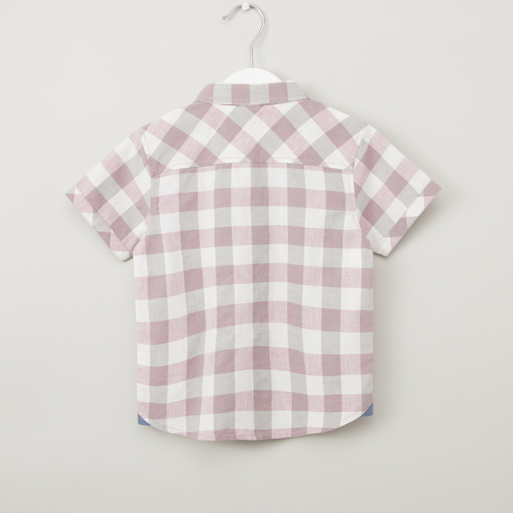 Giggles Checked Shirt with Short Sleeves