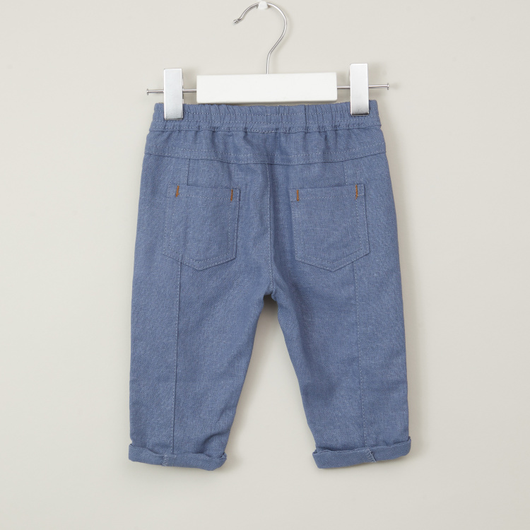Giggles Solid Pants with Pockets and Elasticised Waistband