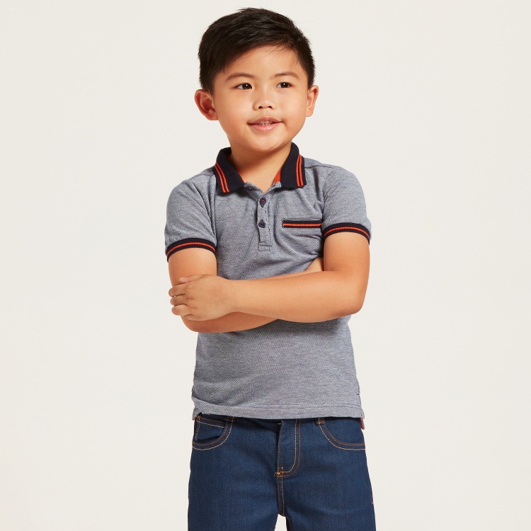 Juniors Polo T-shirt with Pocket and Short Sleeves