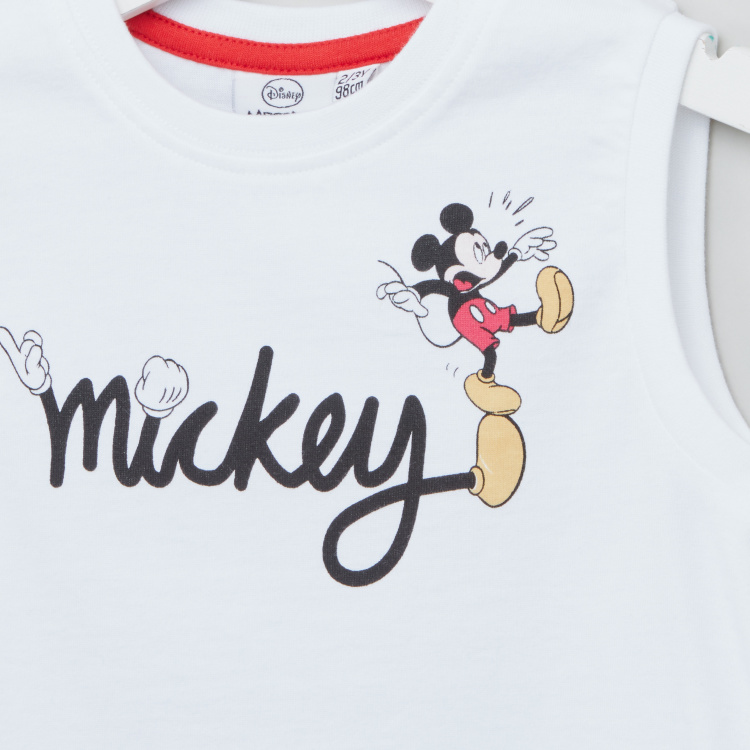 Disney Mickey Mouse Graphic Print Sleeveless T-shirt