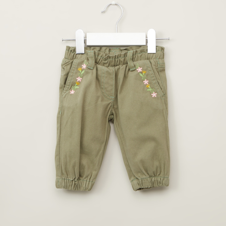 Juniors Solid Pants with Pocket Detail and Elasticised Waistband