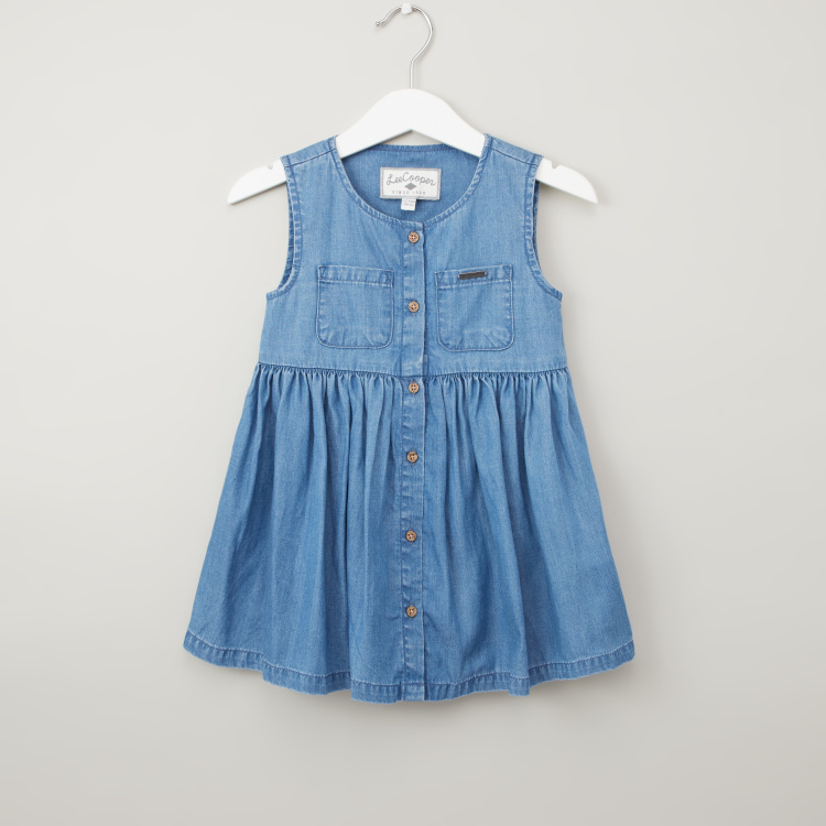Lee Cooper Sleeveless Chambray Denim Dress
