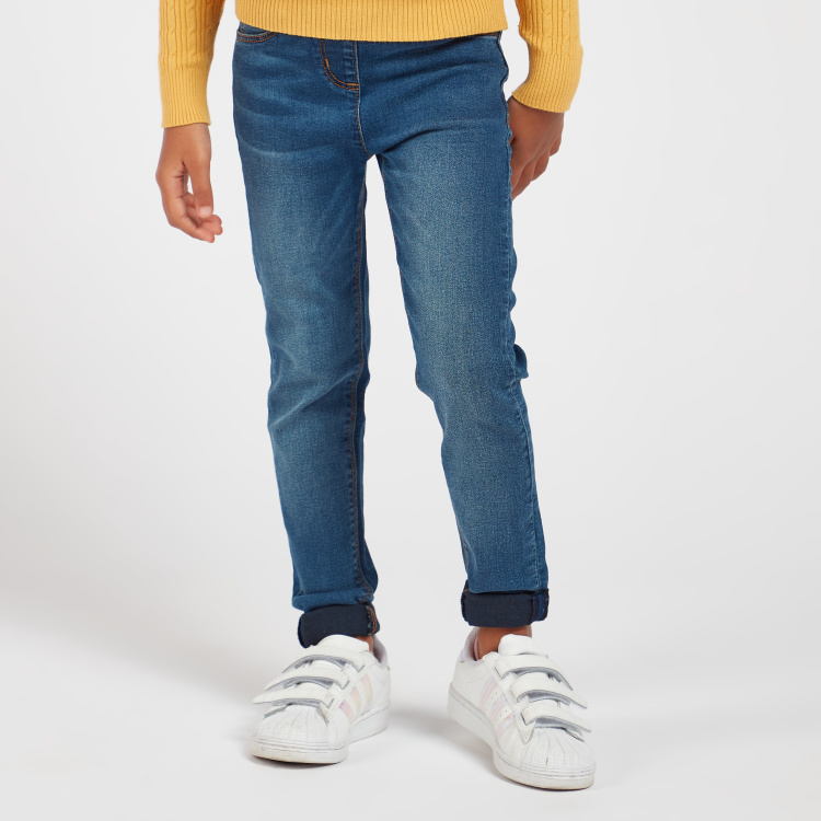 Juniors Jeggings with Elasticated Waistband and Pockets