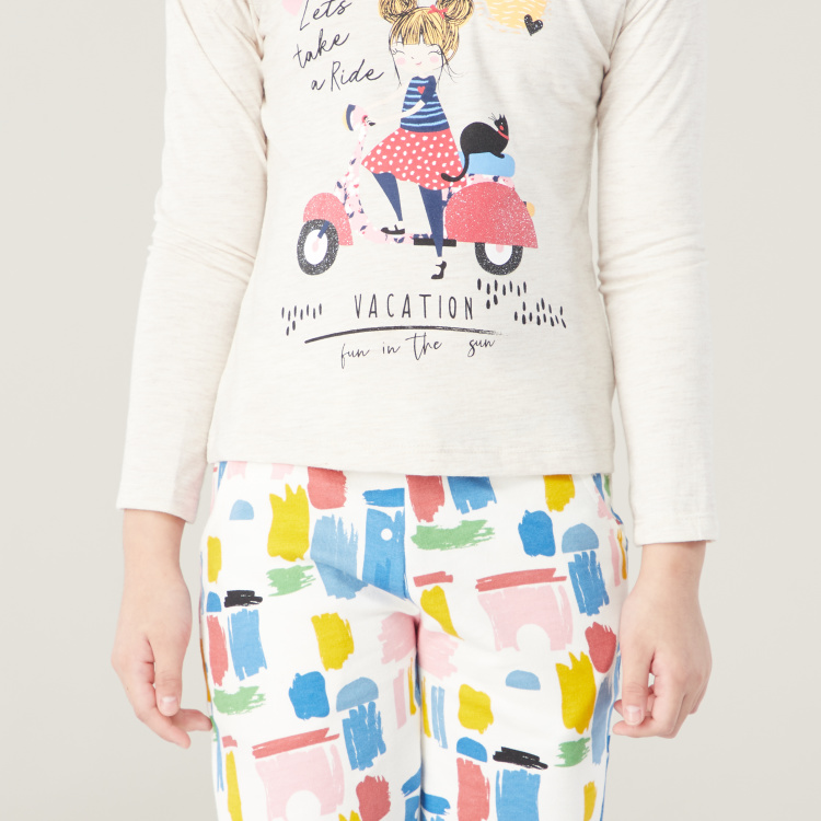 Juniors Printed 3-Piece Apparel Set