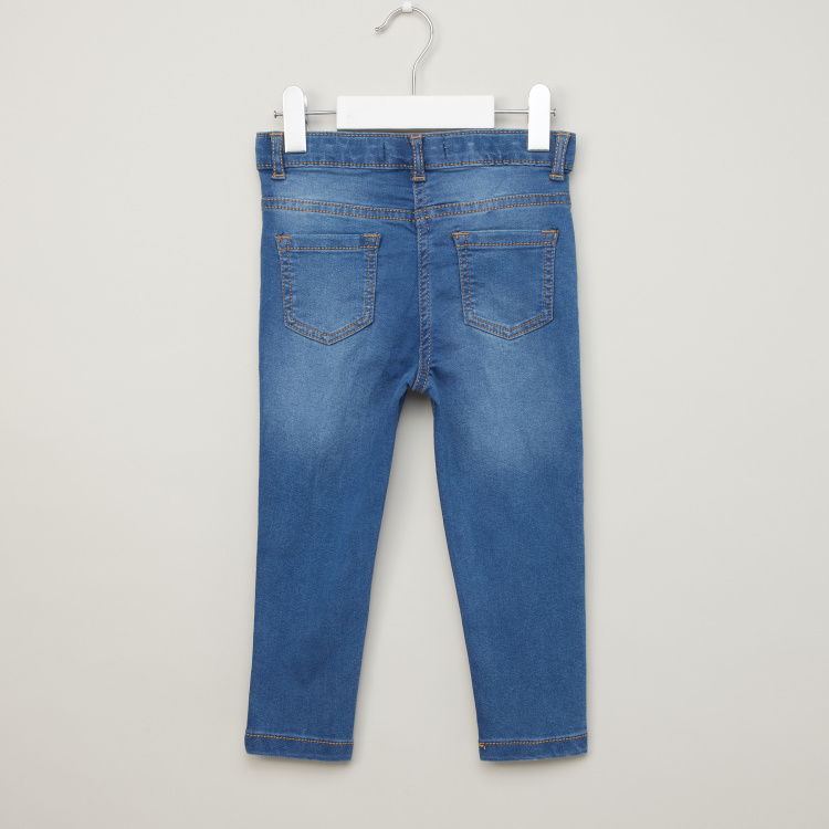 Eligo Solid Jeans with Pocket Detail and Belt Loops