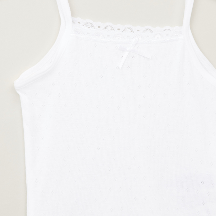 Juniors Lace Detail Camisole with Shorts