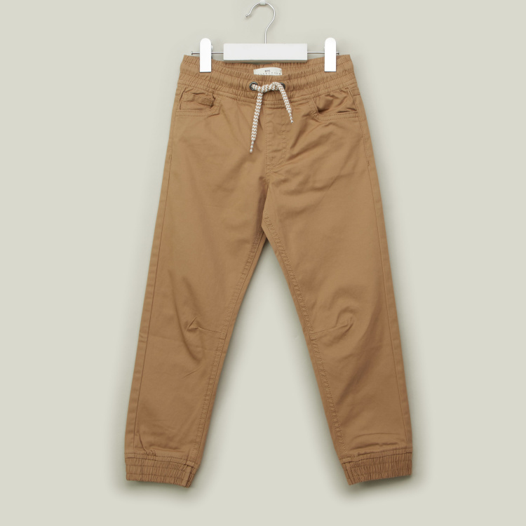 Juniors Solid Pants with Pockets and Drawstring Closure