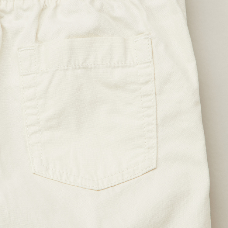 Juniors Solid Shorts with Pockets and Drawstring Closure