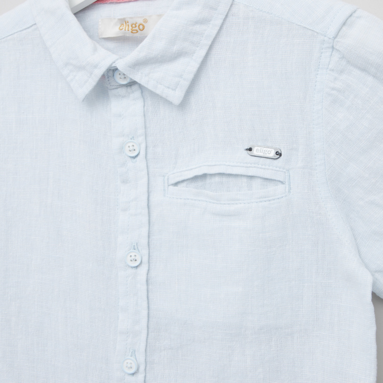 Eligo Solid Shirt with Short Sleeves