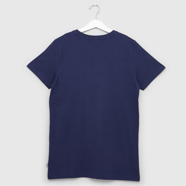 Bossini Graphic Print T-shirt with Short Sleeves