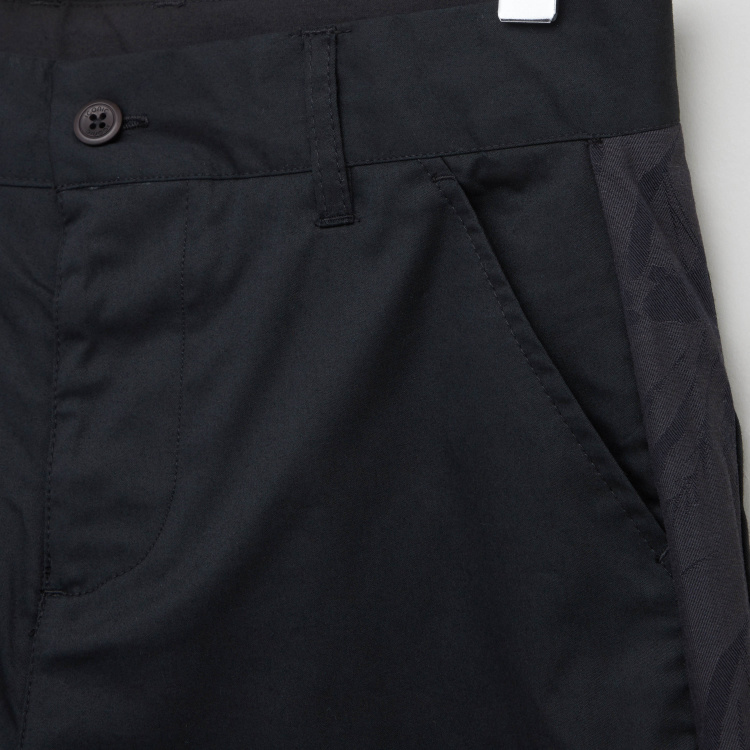 Iconic Solid Pants with Pocket Detail and Belt Loops