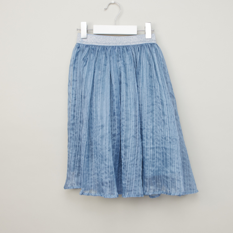 Juniors Textured Skirt with Elasticised Waistband