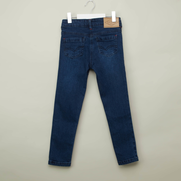 Lee Cooper Full Length Jeans with Pocket Detail and Belt Loops