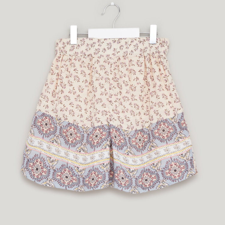 Lee Cooper Floral Print Top with Shorts