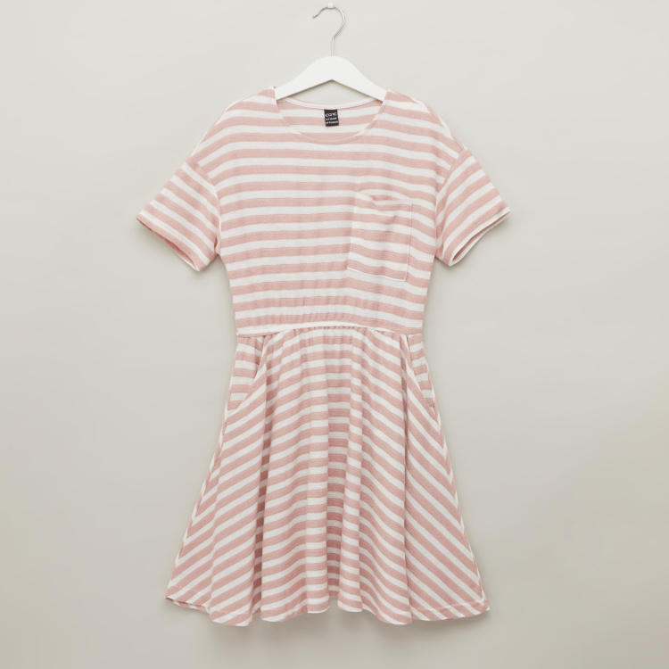 Iconic Striped Dress with Short Sleeves