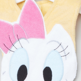 Daisy Duck Applique Detail Bib with Press Button Closure