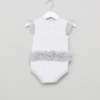 Juniors Frill Detail Bodysuit